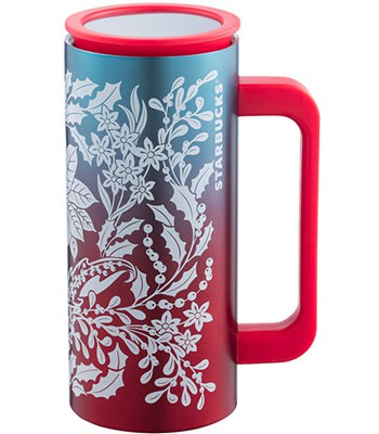 Starbucks Corporation - 12OZ耶誕紅把手不鏽鋼杯-1入