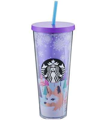Starbucks Corporation - 24OZ雪花森林Togo冷水杯-1入