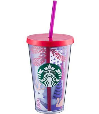 Starbucks Corporation - 16OZ森林夜訪Togo冷水杯-1入