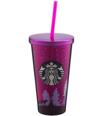 Starbucks Corporation - 16OZ森林不鏽鋼Togo冷水杯-1入