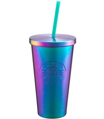 Starbucks Corporation - 16OZ虹彩不鏽鋼Togo冷水杯-1入