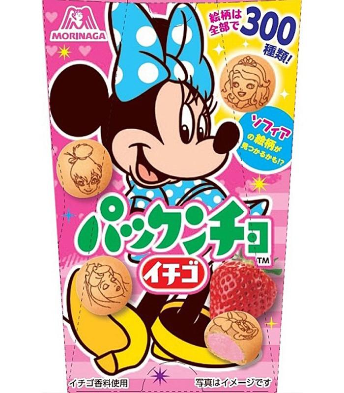 MORINAGA - 迪士尼草莓巧克力餅乾-米妮-47g