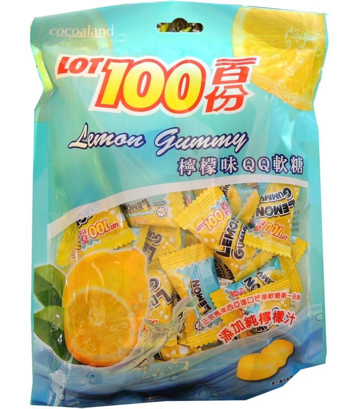 異國零食 - 一百份 檸檬口味QQ軟糖-200g