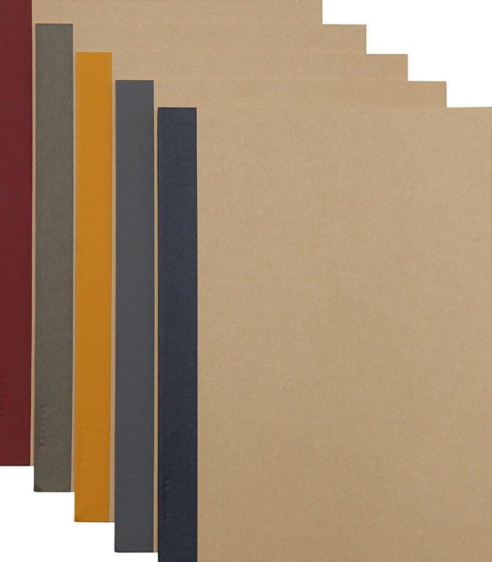MUJI (品牌85折) - 植林木不易透色筆記本/30頁B5.橫線5色-5入