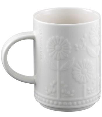 Starbucks Corporation - 12OZ典雅浮雕花開馬克杯-1入