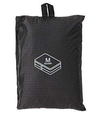 MUJI (品牌85折) - 滑翔傘布旅行分類可折收納袋/中雙層/黑(P)