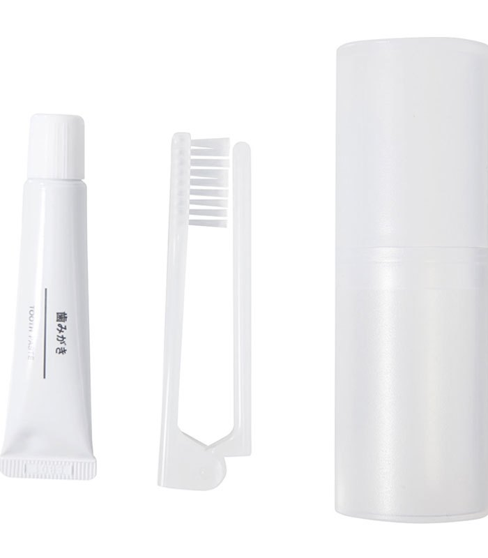 MUJI - 攜帶型牙刷組(折疊式牙刷+牙膏)-1入
