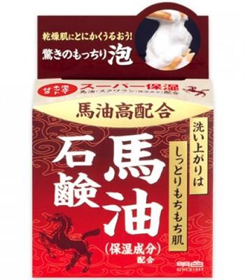 日本馬油相關商品 - 馬油石鹼洗顏皂-80g