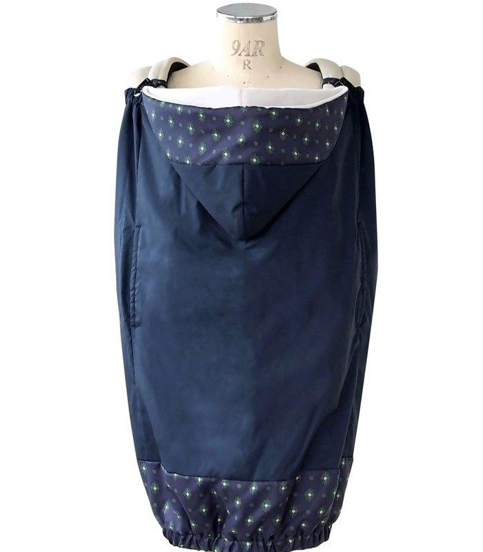 SOULEIADO - 芙蓉花防水保暖披巾- 藍-1入