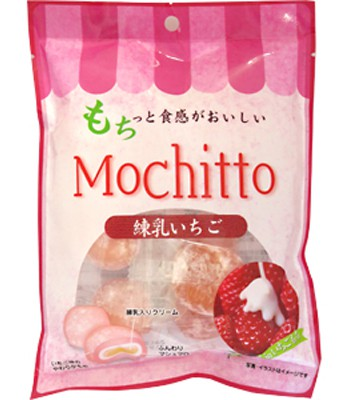 MyHuo Recommended Snacks - 和風麻糬餅-草莓煉乳-112g