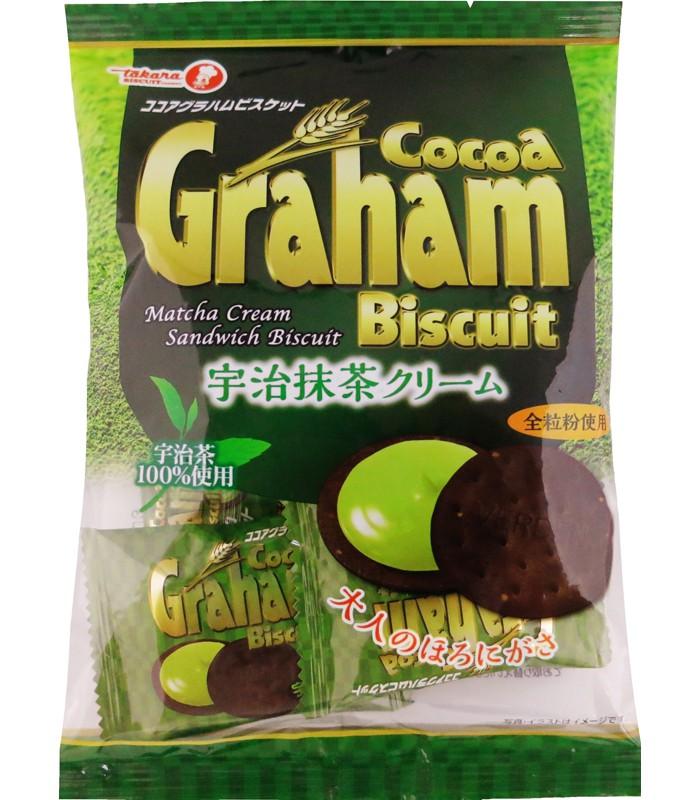 Japanese snacks - 寶制 抹茶巧克力夾心餅-70g