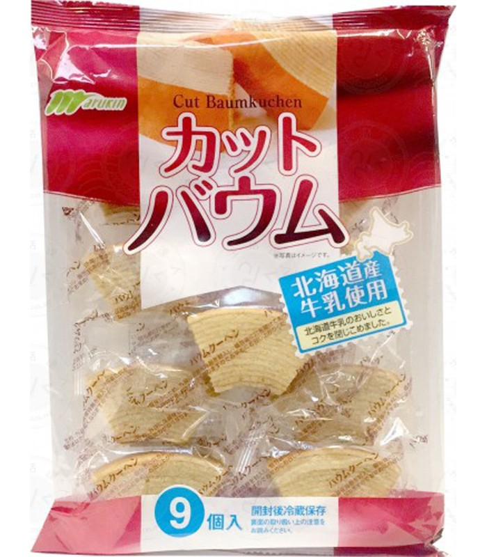 Marukin - 牛奶年輪蛋糕-9入/包