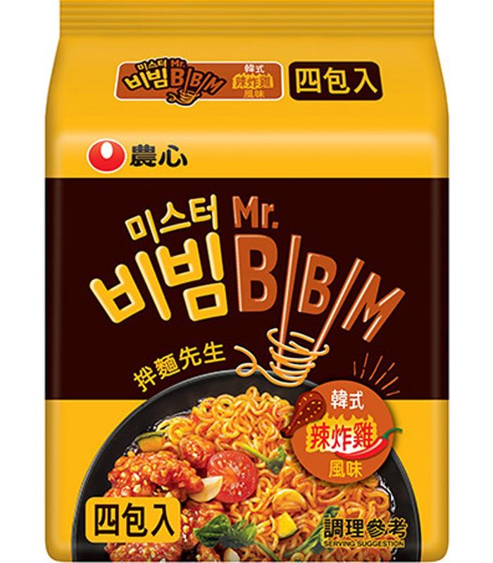 MyHuo Recommended Snacks - 農心韓式炸雞風味拌麵-4包/袋