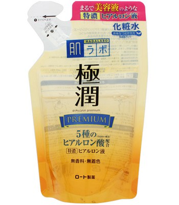 Hada-Labo - 金緻特濃保濕化妝水補充包-170ml