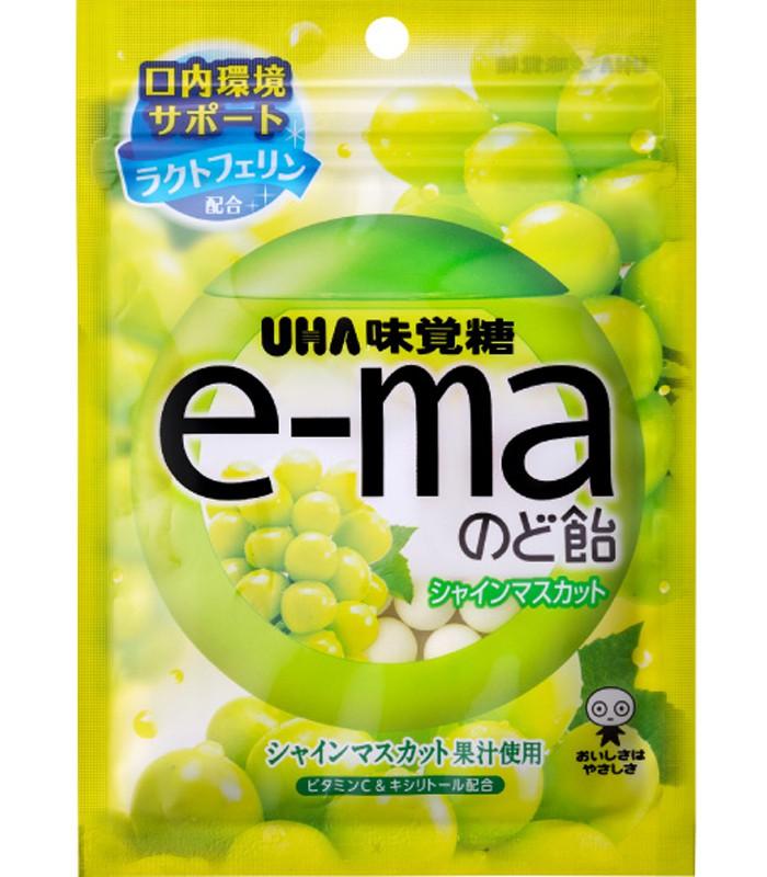 UHA - e-ma喉糖-青葡萄-50g