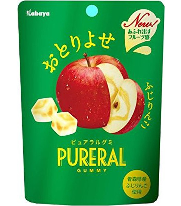 MyHuo Recommended Snacks - 卡巴蘋果果實QQ糖-45g