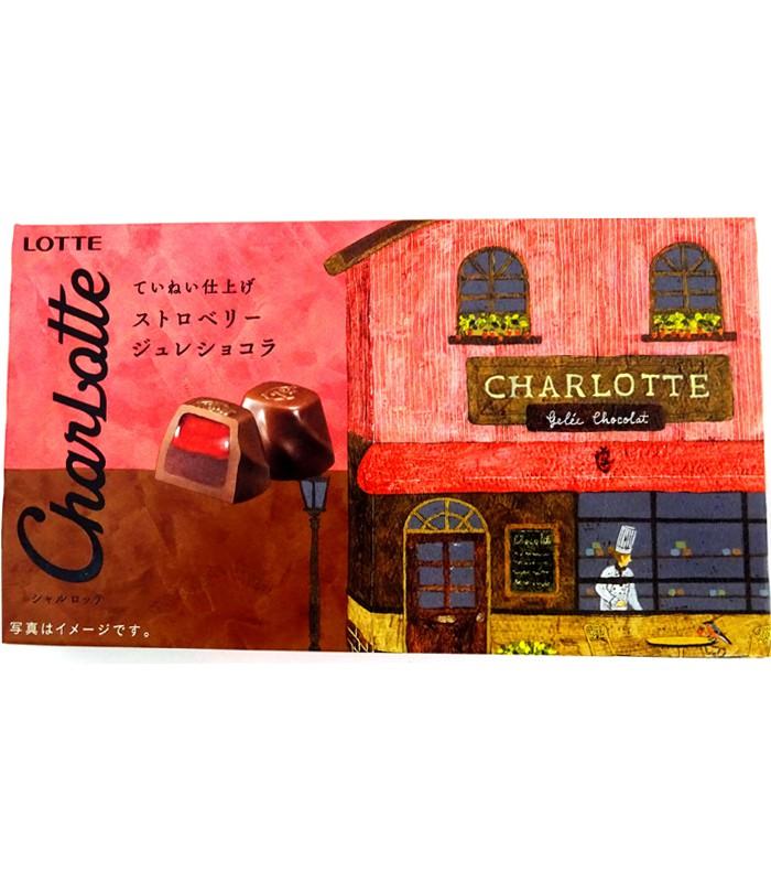 LOTTE - 樂得夾心巧克力-草莓-80.1g