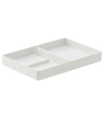 MUJI - ABS小物收納盤/淺灰.1/2-1入