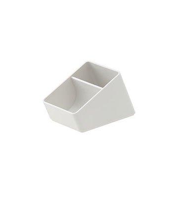 MUJI - ABS小物收納筆筒/淺灰.1/8-1入