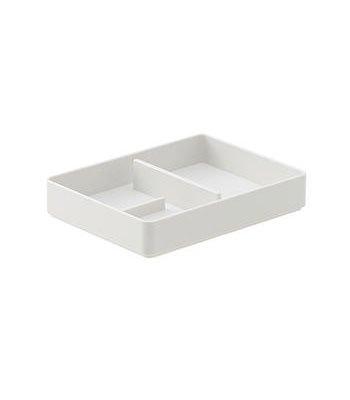 MUJI - ABS小物收納盤/淺灰.1/4-1入