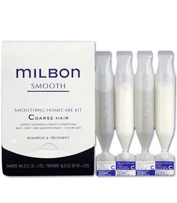 milbon - MILBON 絲柔洗髮精和護髮素-9gX4入