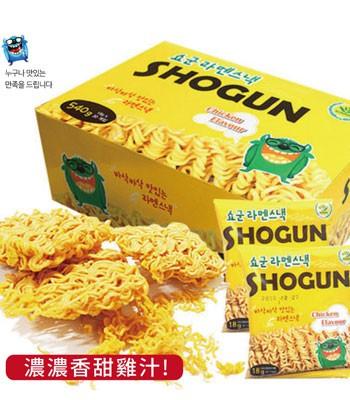 MyHuo Recommended Snacks - 韓國 SHOGUN~怪獸香脆雞汁點心麵-3包入-3入