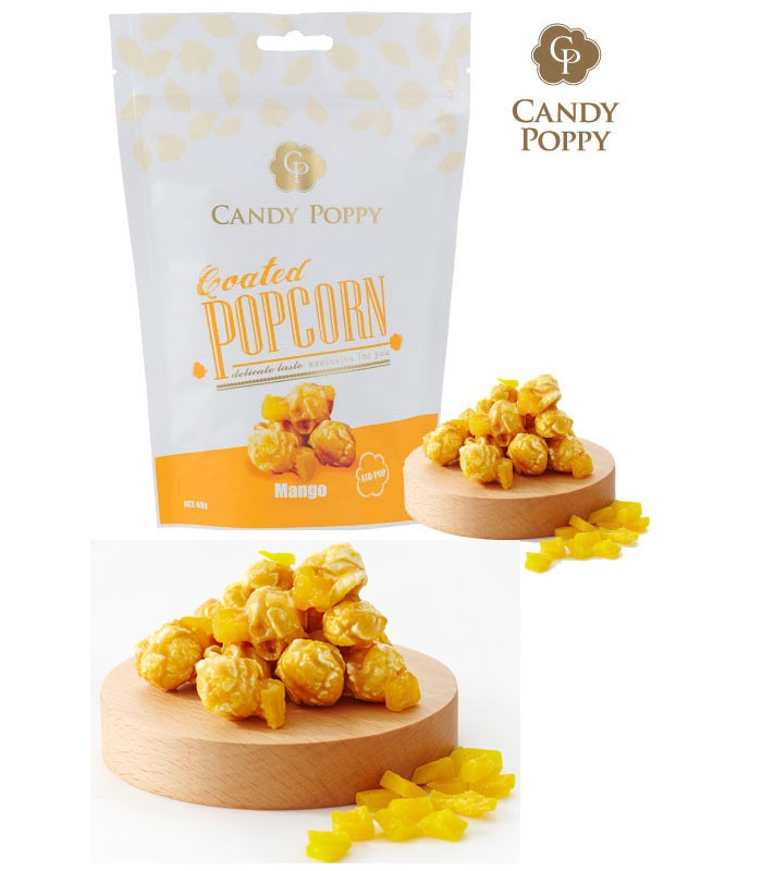 MyHuo Recommended Snacks - CANDY POPPY 裹糖爆米花- 戀夏芒果-70g
