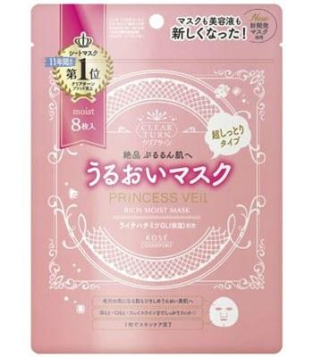 KOSE - 公主肌水潤面膜-8入