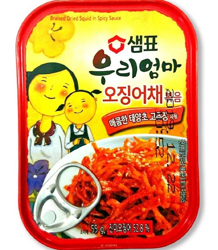 MyHuo Recommended Snacks - 韓味不二- 辣墨魚絲-55g