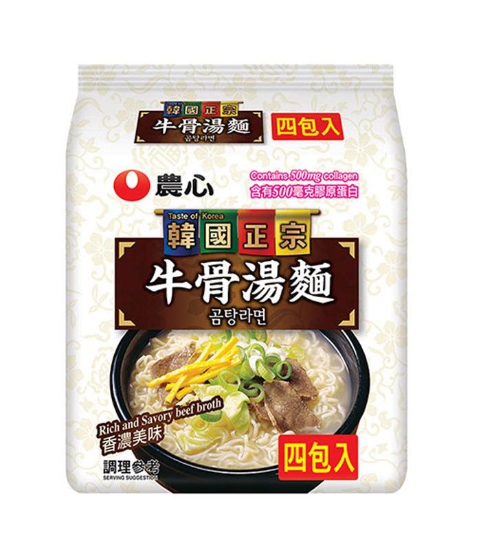 MyHuo Recommended Snacks 買貨推薦零食 - 農心 牛骨湯麵  - 111gx4