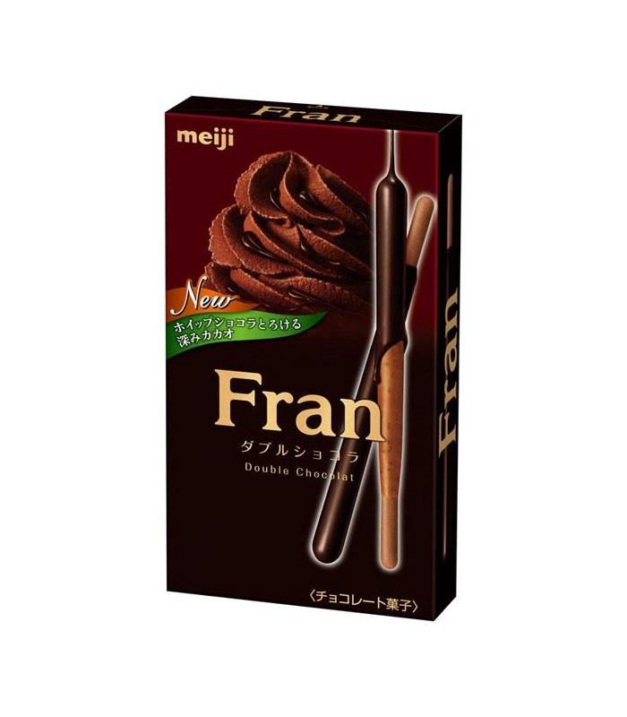 MyHuo Recommended Snacks 買貨推薦零食 - Fran 棒狀餅乾-雙層巧克力口味  - 52g