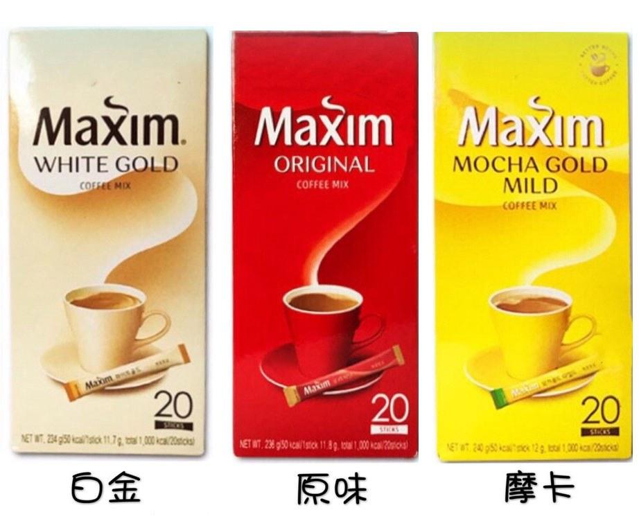 MyHuo Recommended Snacks 買貨推薦零食 - 韓國 Maxim 咖啡 - 12gx20入