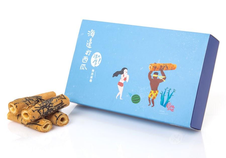 MyHuo Recommended Snacks 買貨推薦零食 - 海邊走走 激厚海苔蛋捲(保期短不送大陸)  - 14入
