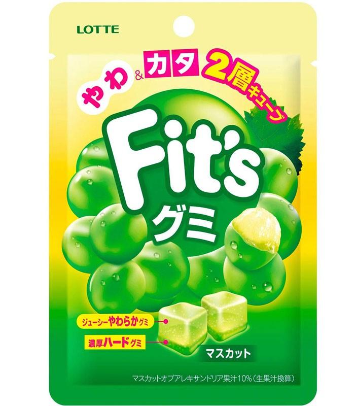 LOTTE 樂天 - Fit's軟糖(青葡萄風味)  - 44g