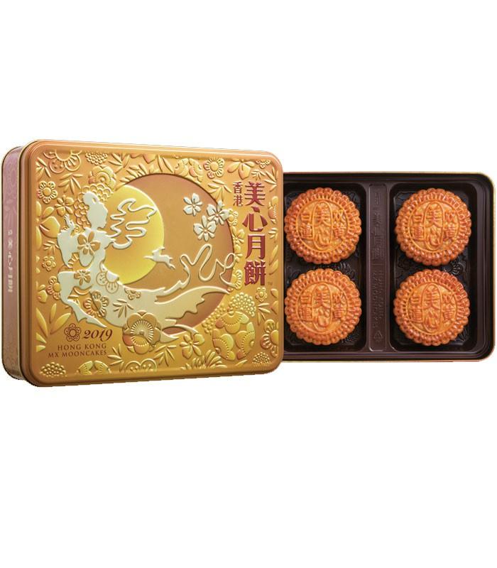 MyHuo Recommended Snacks 買貨推薦零食 - 【中秋禮盒】香港美心 雙黃白蓮蓉月餅-預計9/2出貨  - 4入