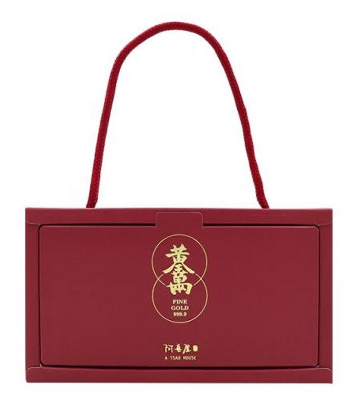 A Tsao House 阿皂屋 - 紅禮藏金 - 金條皂三入禮盒 - 80g*3