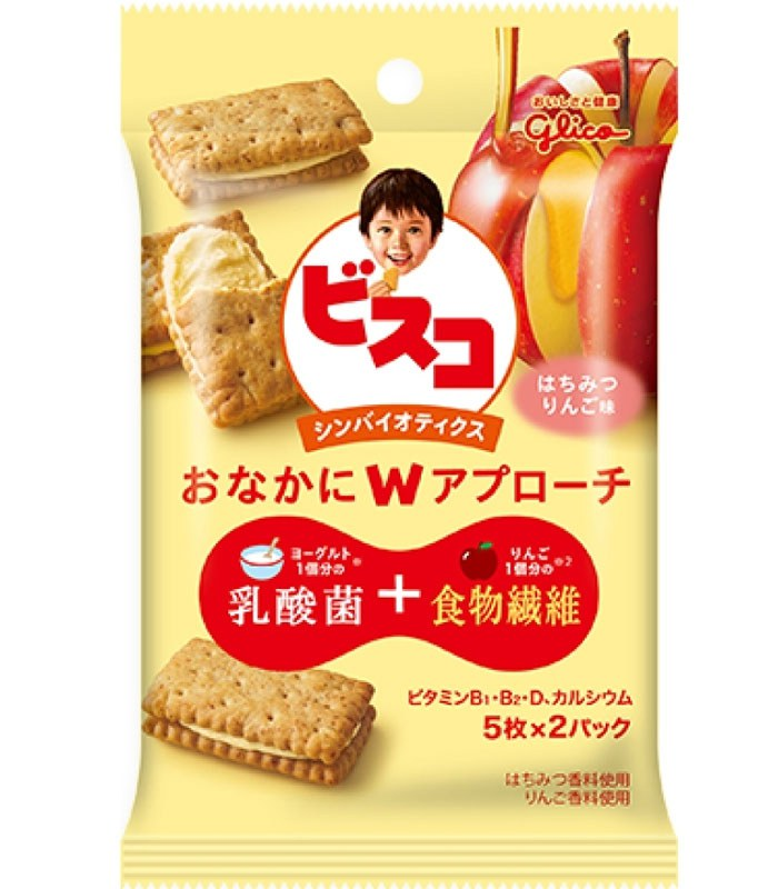 glico 格力高 - 水果優格夾心餅乾 蜂蜜蘋果  - 45.4g