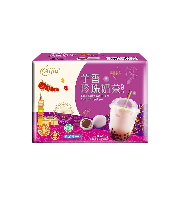 MyHuo Recommended Snacks 買貨推薦零食 - Aijia 珍珠奶茶巧克力 - 45g