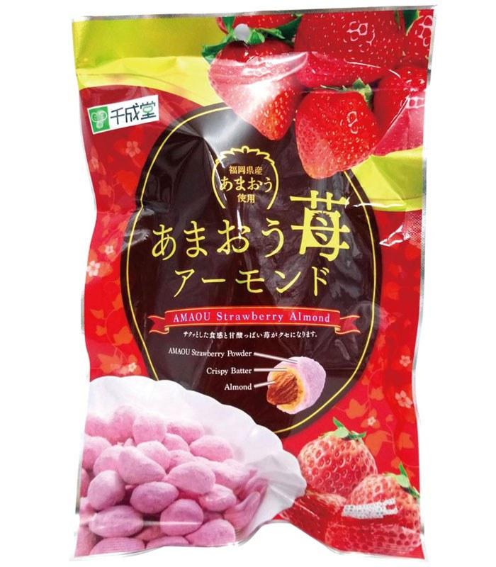 MyHuo Recommended Snacks 買貨推薦零食 - 日本千成堂草莓杏仁豆果子  - 90g