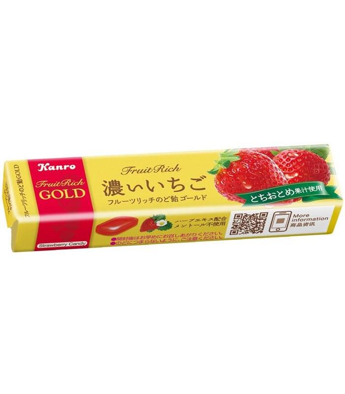 KANRO 甘樂 - GOLD濃草莓口味喉糖  - 1入