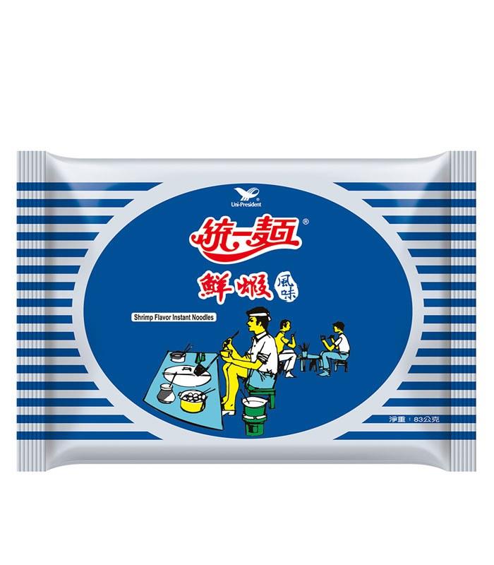 湯 / 乾拌麵 - 統一麵 鮮蝦風味  - 5入