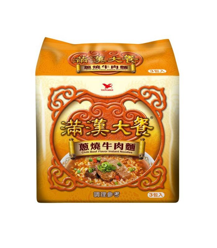 湯 / 乾拌麵 - 滿漢大餐 蔥燒牛肉麵  - 3包/袋