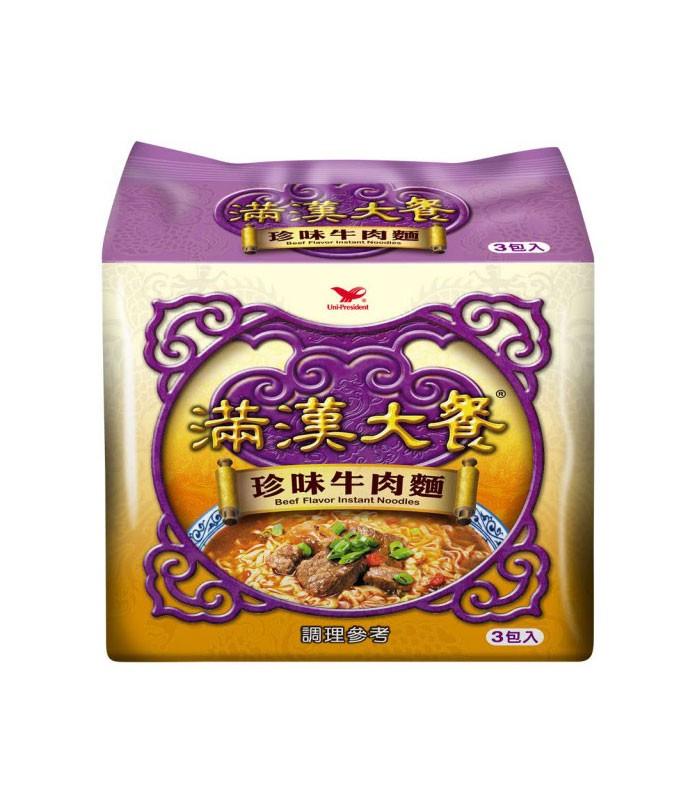 湯 / 乾拌麵 - 滿漢大餐 珍味牛肉麵  - 3包/袋