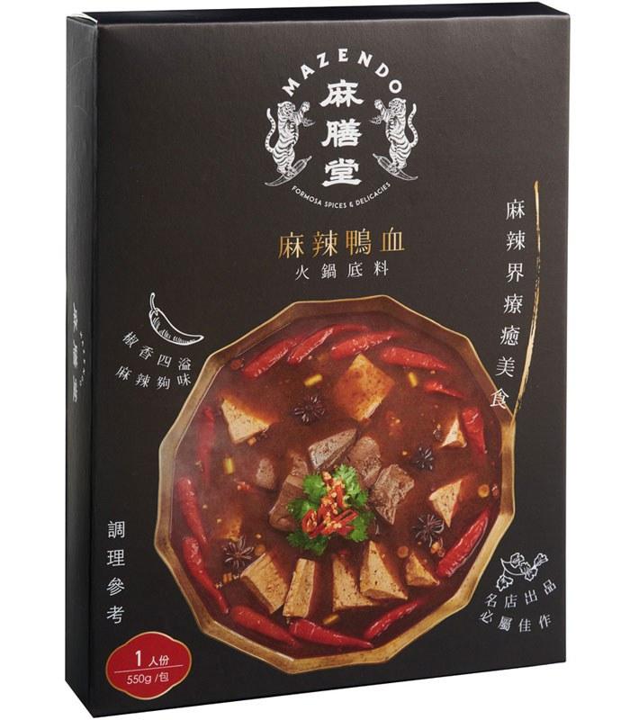 MyHuo Recommended Snacks 買貨推薦零食 - 麻膳堂 麻辣鴨血火鍋底料  - 550g