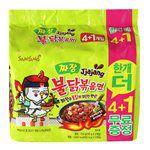 MyHuo Recommended Snacks - 韓國 SAMYANG火辣雞肉炸醬風味鐵板炒麵-5包/袋