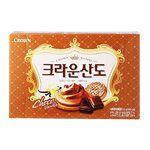 異國零食 - Crown 巧克力三明治餅乾-161g