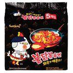 MyHuo Recommended Snacks - 韓國火辣雞肉風味鐵板炒麵-5包/袋