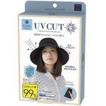 Japan buyer_makeup - 日本可折疊防紫外線涼感黑色點點遮陽帽-1入