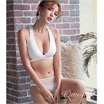 Qmomo - 無鋼圈激彈抗壓成套運動內衣(白)