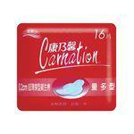 Carnation - 超薄蝶型衛生棉量多型25.5cm-16片/包